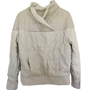 The North Face Ivory Cream Puffy Pullover